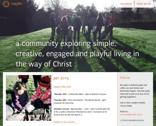 screenshot of maybe.org.uk