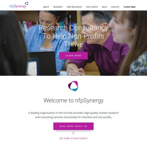Screenshot of nfpsynergy.net homepage