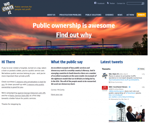 screenshot of weownit.org.uk